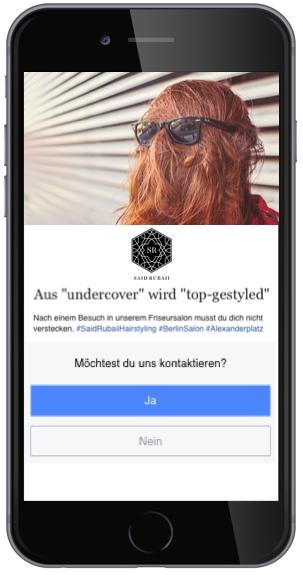 Facebook Audience-Network Anzeige