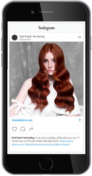 Instagram Anzeige