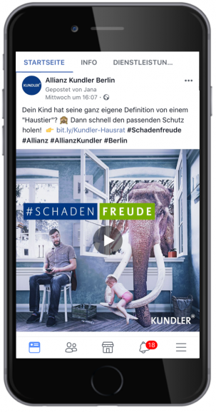 kreative Facebook Video-Anzeige